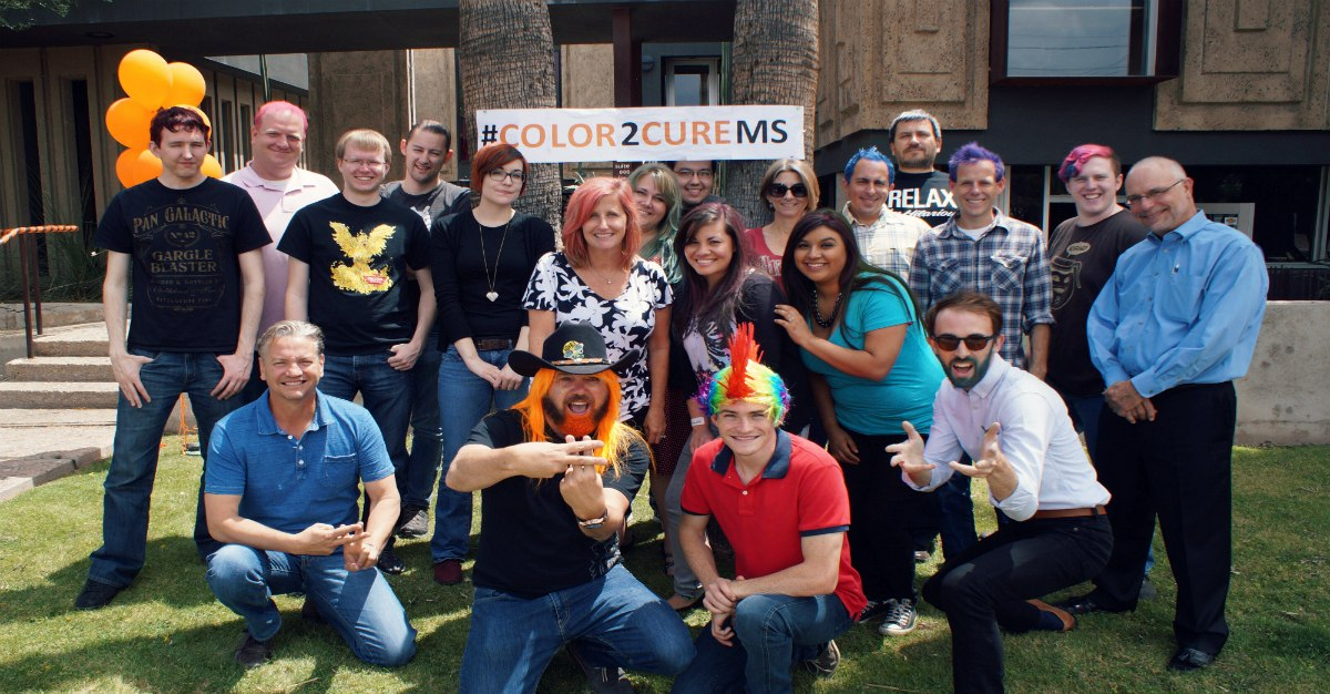 Ubiquia and Friends Gather In Support of Their #Color2CureMS Campaign